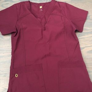 Burgundy Scrub set